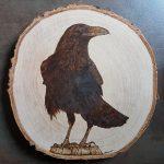 wypalanie w drewnie, sylwia, pirografia, janczyszyn, pyrography, handmade, rękodzieło, pomysł na prezent, kruk