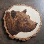 wypalanie w drewnie, sylwia, pirografia, janczyszyn, pyrography, handmade, rękodzieło, pomysł na prezent, niedźwiedź