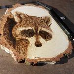 wypalanie w drewnie, sylwia, pirografia, janczyszyn, pyrography, handmade, rękodzieło, pomysł na prezent, szop pracz