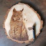 wypalanie w drewnie, sylwia, pirografia, janczyszyn, pyrography, handmade, rękodzieło, pomysł na prezent, ryś