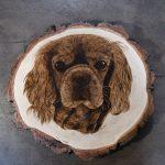 wypalanie w drewnie, sylwia, pirografia, janczyszyn, pyrography, handmade, rękodzieło, pomysł na prezent, pies, portret