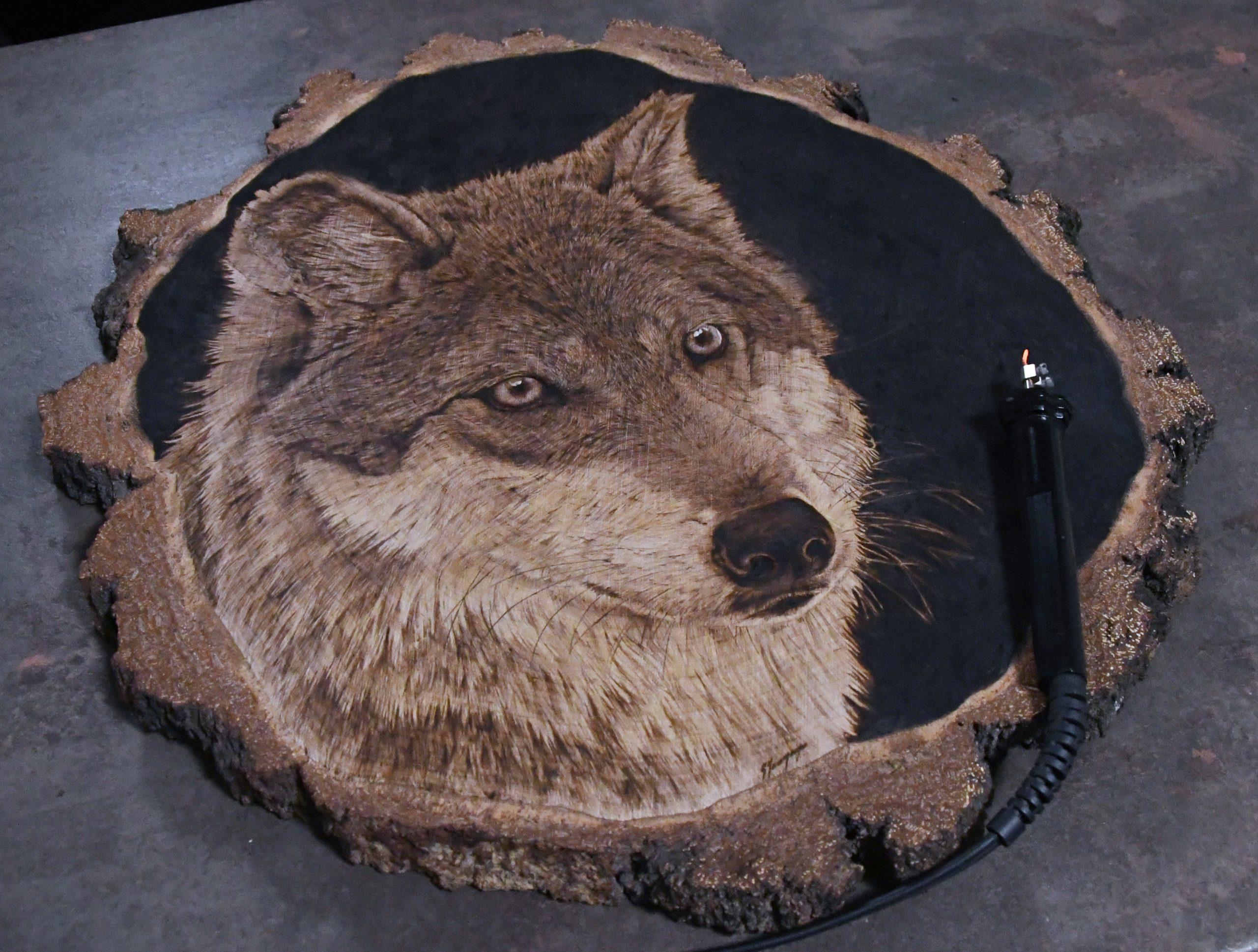 wypalanie w drewnie, sylwia, pirografia, janczyszyn, pyrography, handmade, rękodzieło, pomysł na prezent, wilk