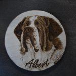 wypalanie w drewnie, sylwia, pirografia, janczyszyn, pyrography, handmade, rękodzieło, pomysł na prezent, portret psa