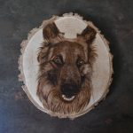 wypalanie w drewnie, sylwia, pirografia, janczyszyn, pyrography, handmade, rękodzieło, pomysł na prezent, zwierzęta, portret psa