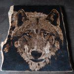 wypalanie w drewnie, sylwia, pirografia, janczyszyn, pyrography, handmade, rękodzieło, pomysł na prezent, zwierzęta, wilk