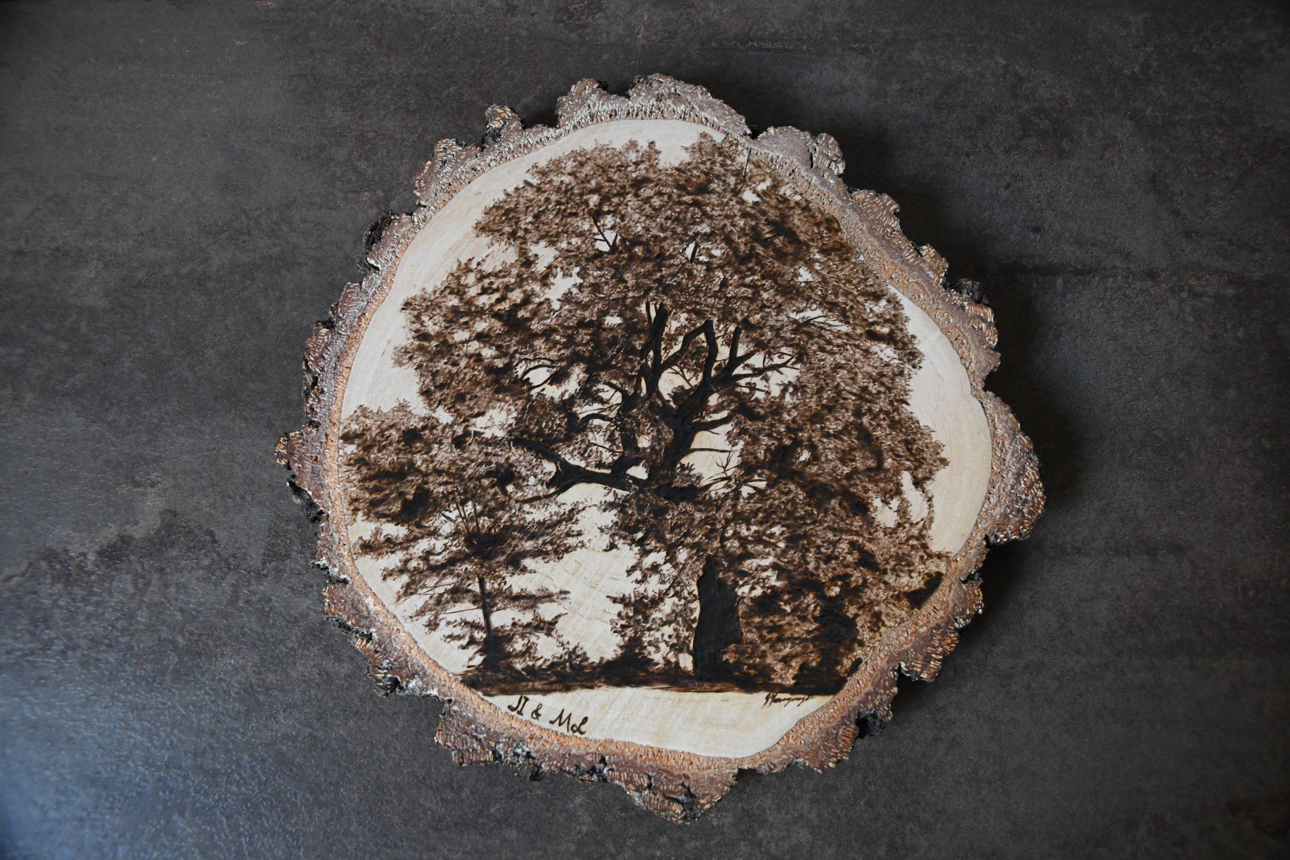 wypalanie w drewnie, sylwia, pirografia, janczyszyn, pyrography, handmade, rękodzieło, pomysł na prezent, pamiątka, drzewo
