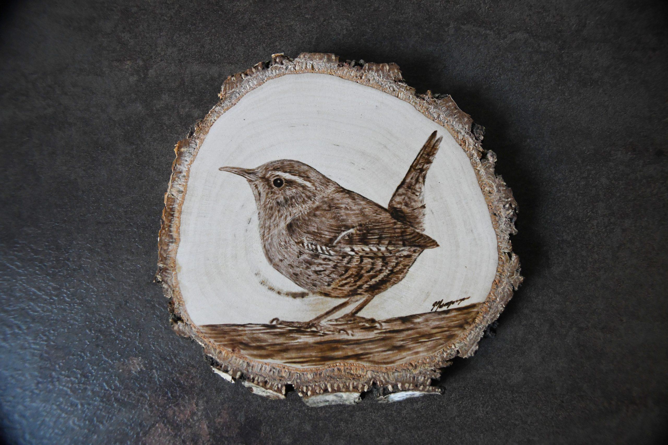 wypalanie w drewnie, sylwia, pirografia, janczyszyn, pyrography, handmade, rękodzieło, pomysł na prezent, zwierzęta, strzyżyk