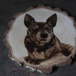 wypalanie w drewnie, sylwia, pirografia, janczyszyn, pyrography, handmade, rękodzieło, pomysł na prezent, portret psa,