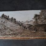 wypalanie w drewnie, sylwia, pirografia, janczyszyn, pyrography, handmade, rękodzieło, pomysł na prezent, na zamówienie, krajobraz, góry, widok woodburning