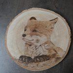 wypalanie w drewnie, sylwia, pirografia, janczyszyn, pyrography, handmade, rękodzieło, pomysł na prezent, lis