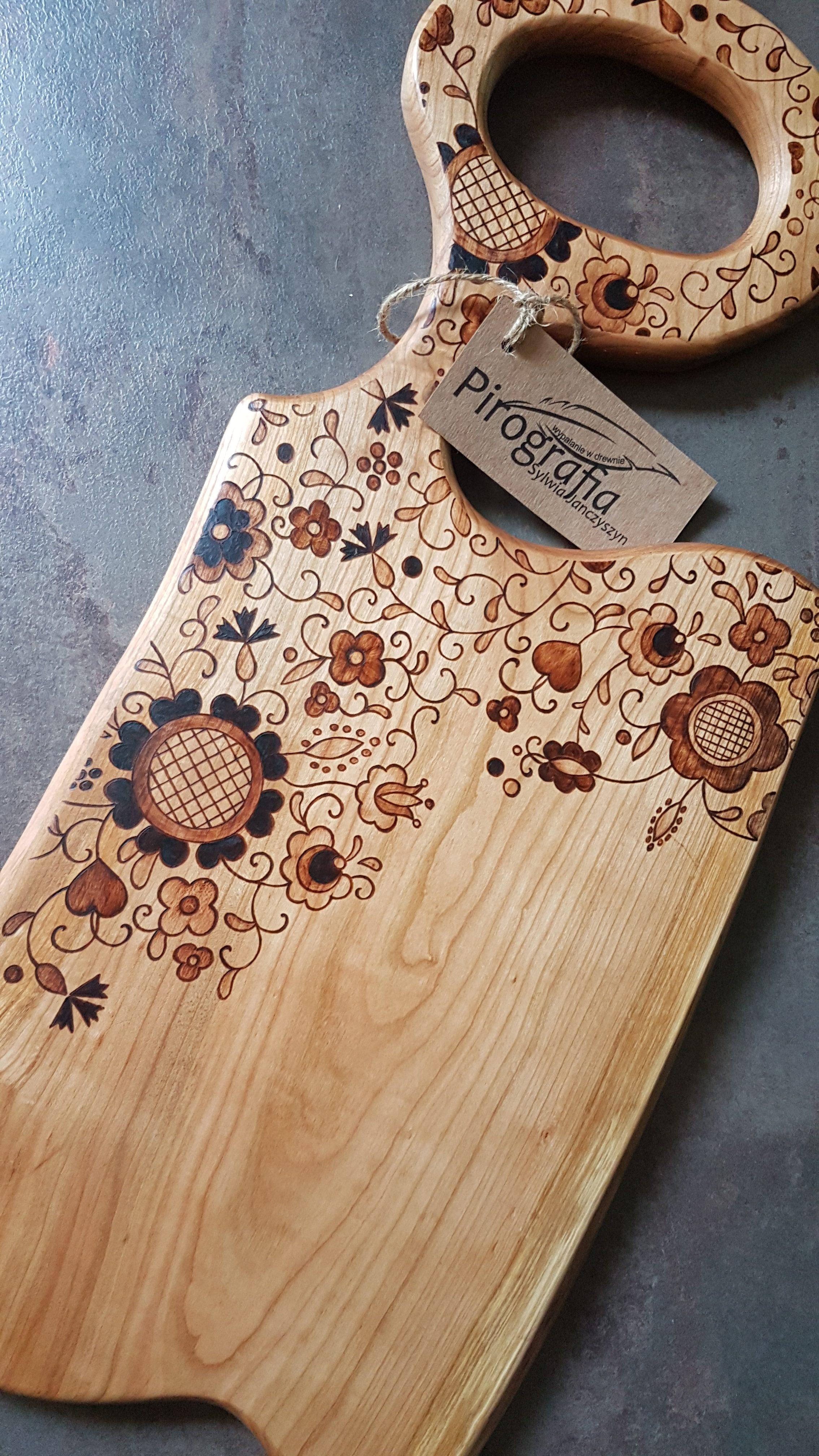 wypalanie w drewnie, sylwia, pirografia, janczyszyn, pyrography, handmade, rękodzieło, pomysł na prezent, deska do serwowania, deska do krojenia, prezent dla kucharza