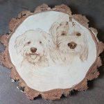 psy, portret, pirografia, janczyszyn, pyrography, handmade, rękodzieło, pomysł na prezent