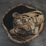 pirografia, janczyszyn, pyrography, handmade, rękodzieło, pomysł na prezent, tygrys