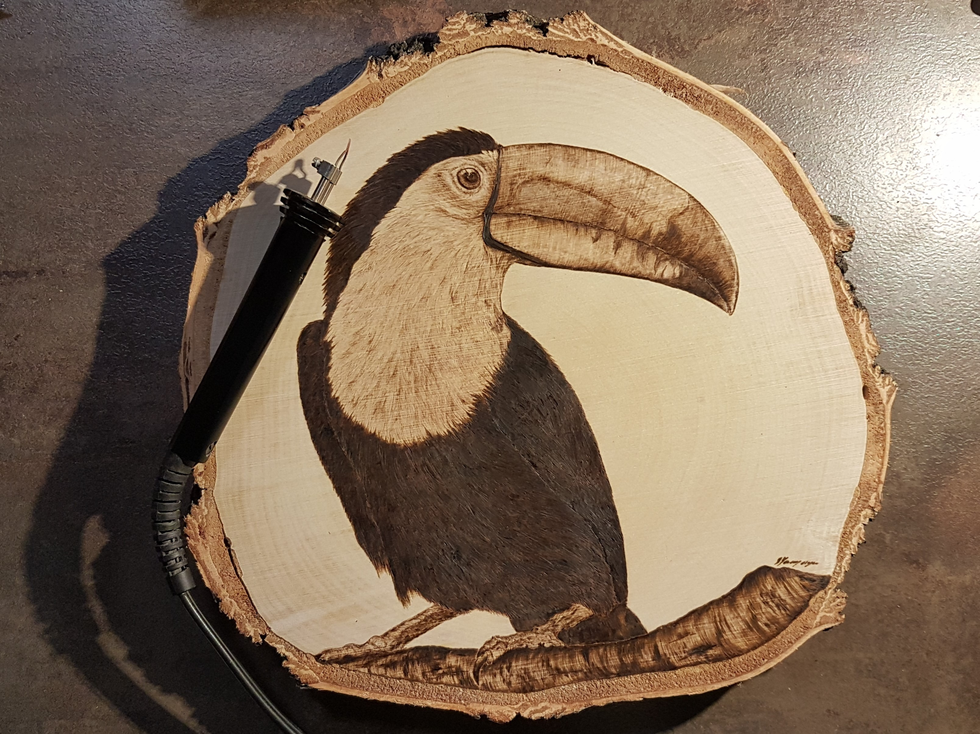 pirografia, janczyszyn, pyrography, handmade, rękodzieło, pomysł na prezent, tukan