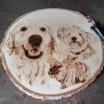 wypalanie w drewnie, pirografia, janczyszyn, pyrography, handmade, rękodzieło, pomysł na prezent, portret, psy