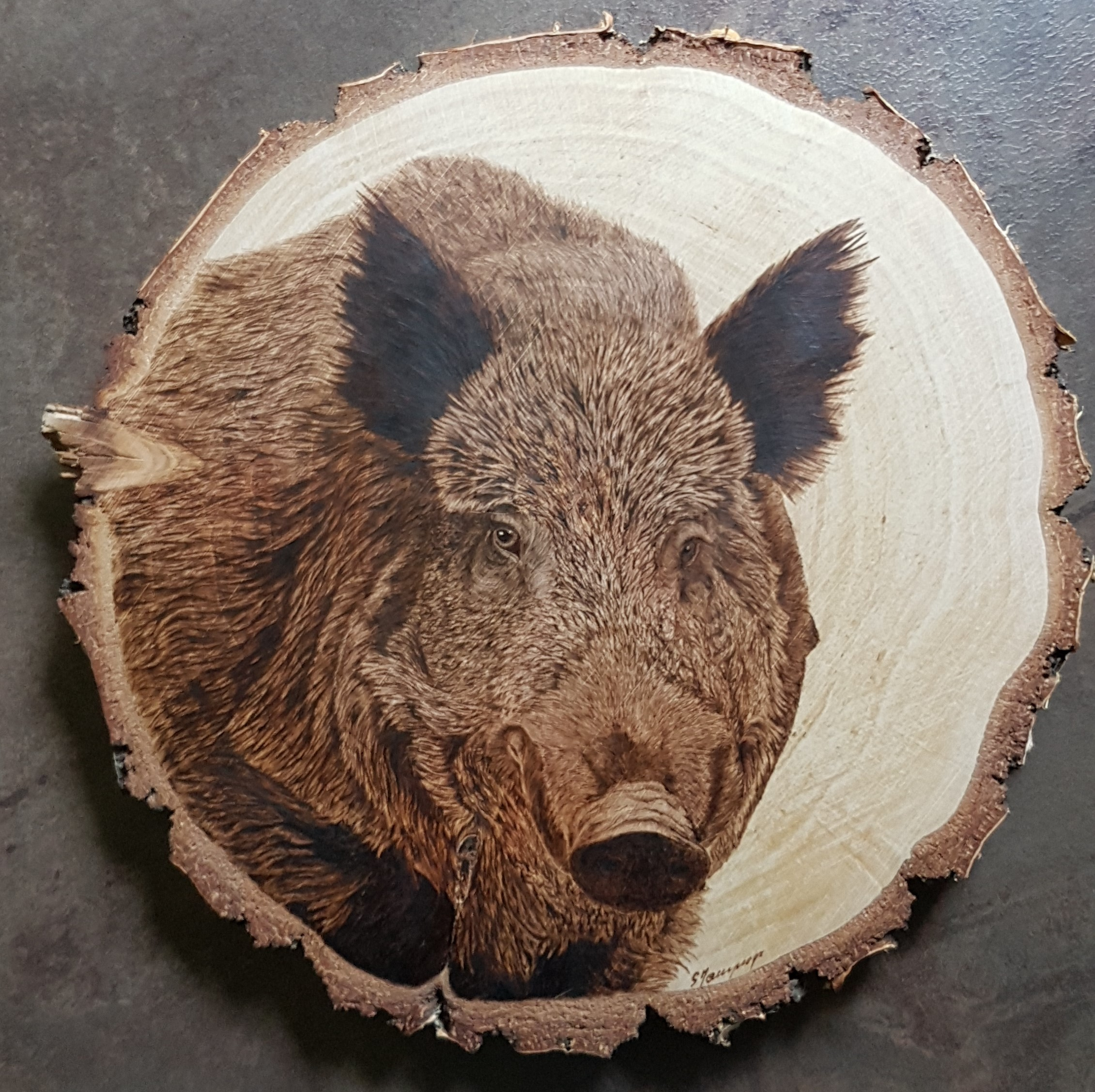 wypalanie w drewnie, sylwia, pirografia, janczyszyn, pyrography, handmade, rękodzieło, pomysł na prezent, dzik