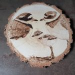 wypalanie w drewnie, sylwia, pirografia, janczyszyn, pyrography, handmade, rękodzieło, pomysł na prezent, sieweczka obrożna
