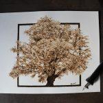 pirografia na papierze, pyroart on paper, pyrographic on paper, pirografia Sylwia Janczyszyn, Sylwia, pirografia, wypalanie, wypalanie na papierze, prezent, niesamowite prezenty, unikatowe obrazy, niepowtarzalne dzieła